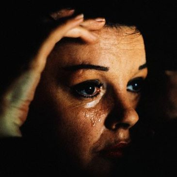 Judy Garland Shedding a Tear