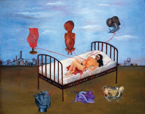 perda gestacional - obra de Frida Kahlo