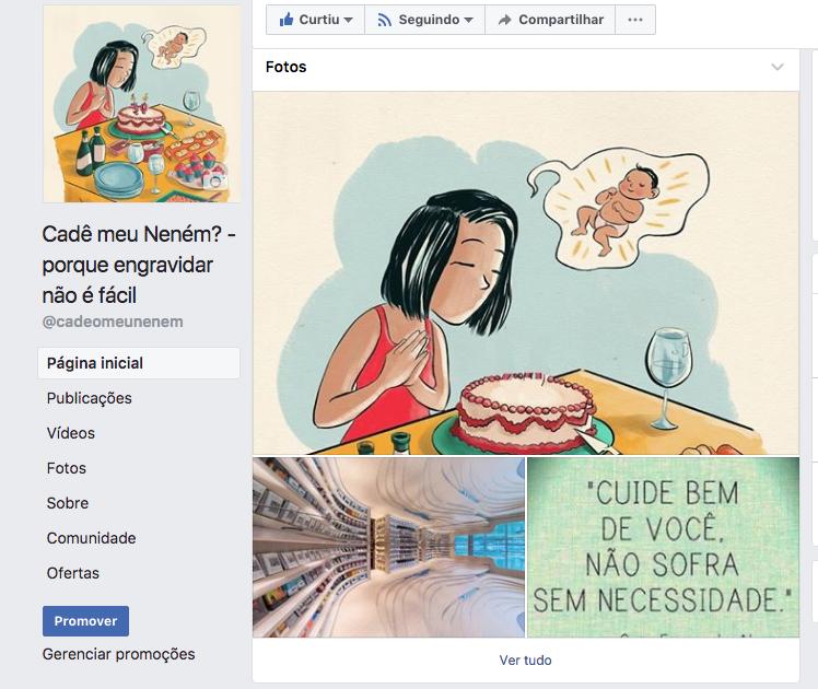 Cadê Meu Neném? no Facebook
