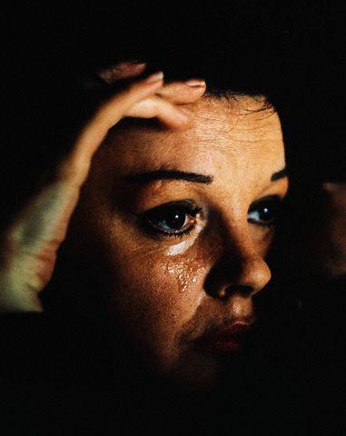 Judy Garland Shedding a Tear